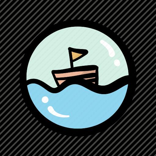 boat, journey, sailing, tour, transportation, travel, trip icon