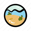 adventure, beach, coin, explore, survey, travel, treasure icon