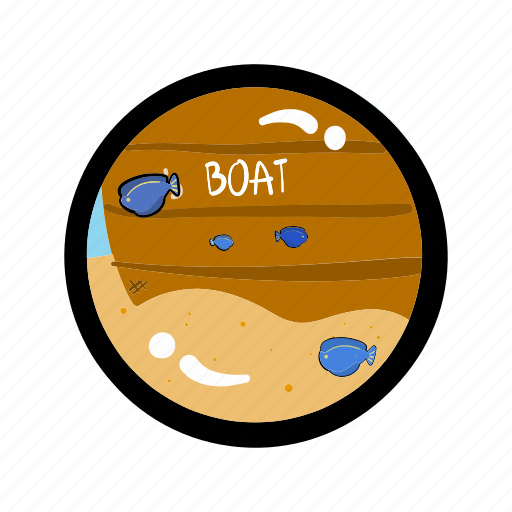 boat, fish, ocean, ship, sink, tourism, travel icon