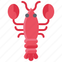 animal, prawn, seafood, shrimp, summer icon
