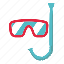 beach, holiday, mask, scuba mask, sea, swim, swimming icon