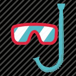 beach, holiday, mask, scuba mask, sea, swim, swimming icon