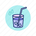 drink, fresh, hot, ice, straw, summer, vibes icon