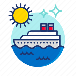 beach, boat, cruise, scene, summer, sun, vibes icon
