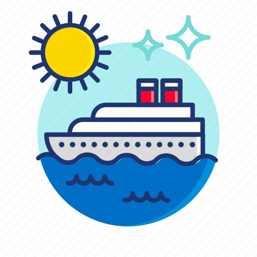 Beach, boat, cruise, scene, summer, sun, vibes icon - Download on Iconfinder