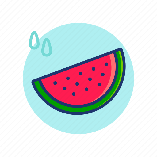 Fresh, fruit, melon, summer, vibes, water, watermelon icon - Download on Iconfinder