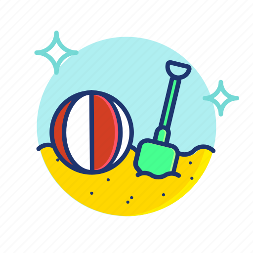 Ball, beach, sand, shovel, summer, toy, vibes icon - Download on Iconfinder