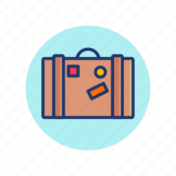 bag, baggage, summer, time, travel, vacation, vibes icon