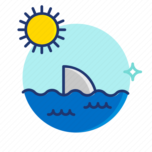 Beach, ocean, scene, sea, shark, summer, vibes icon - Download on Iconfinder