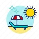 beach, chair, hammock, summer, sun, umbrella, vibes icon