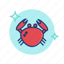 beach, crab, food, sea, seafood, summer, vibes icon