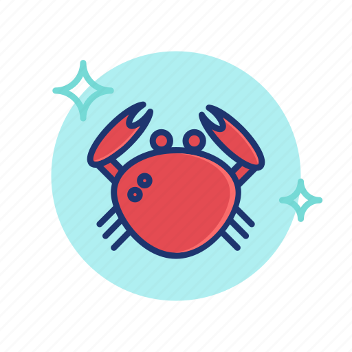 Beach, crab, food, sea, seafood, summer, vibes icon - Download on Iconfinder