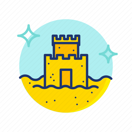 Beach, castle, sand, sandcastle, summer, sun, vibes icon - Download on Iconfinder