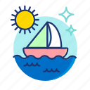 boat, sail, sailboat, sea, ship, summer, vibes icon