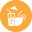 coconut, drink, food, fruit, lemon, water icon