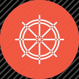 boat, ship, transport, wheel icon