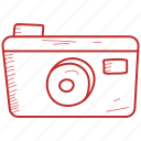 camera, click, photo, summer icon