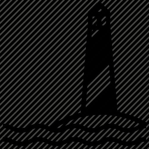 direction, help, lighthouse, navigation, safe, summer, travel icon