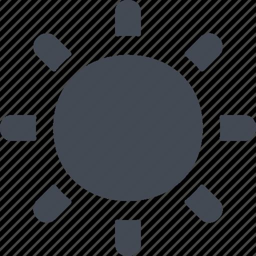 circle, light, summer, sun, sunrise, sunset, tan icon