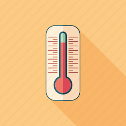 hot, spring, summer, temperature, thermometer, thermostat, weather icon