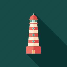 architecture, beacon, beam, landscape, lighthouse, marine, nautical icon