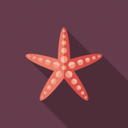 animal, coral, fish, ocean, star, starfish, tropical icon