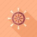 marine, nautical, navigation, ship, steering, wheel, yachting icon