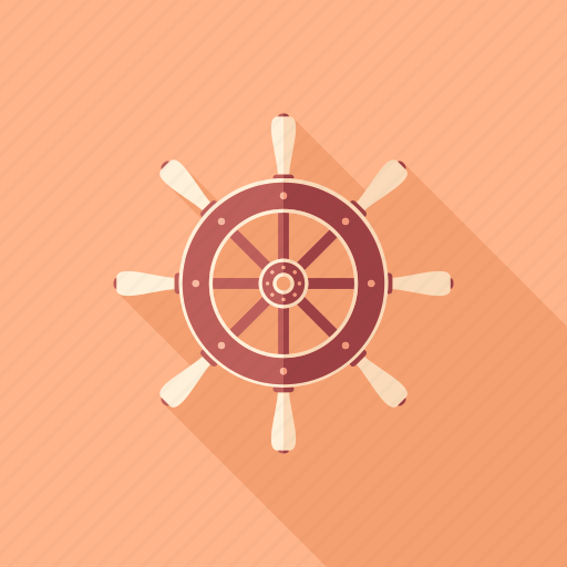 marine, nautical, navigation, ship, steering, wheel, yachting icon