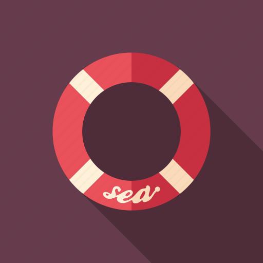 buoy, lifebuoy, lifeguard, lifesaver, preserver, sos, survival icon