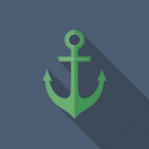 anchor, cruise, marine, nautical, sea, ship, yachting icon
