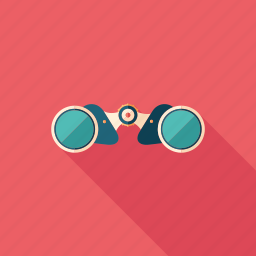binoculars, military, navigation, optical, search, spy, view icon