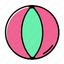 ball, beach, holiday, summer, vacation icon