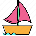 beach, boat, holiday, summer, vacation icon