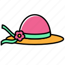 beach, hat, holiday, summer, vacation icon
