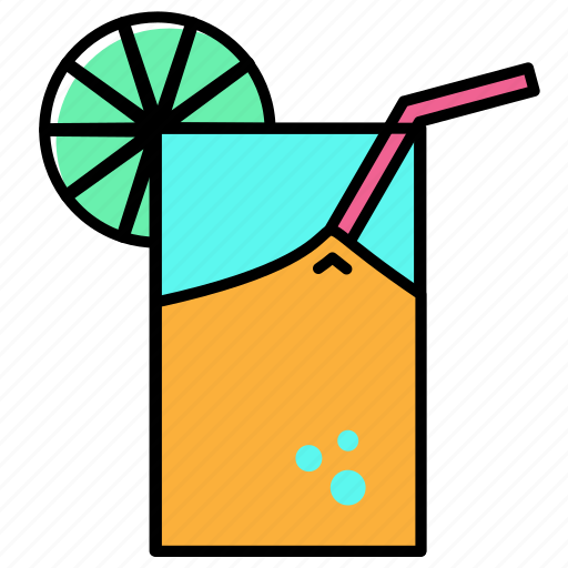 beach, holiday, juice, orange, summer, vacation icon