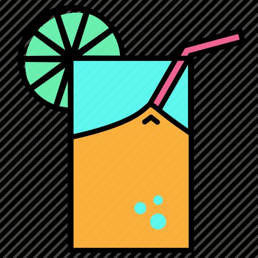 Beach, holiday, juice, orange, summer, vacation icon - Download on Iconfinder