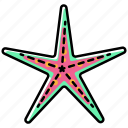 beach, holiday, starfishh, summer, vacation icon