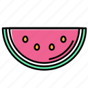 beach, holiday, summer, vacation, watermelon icon