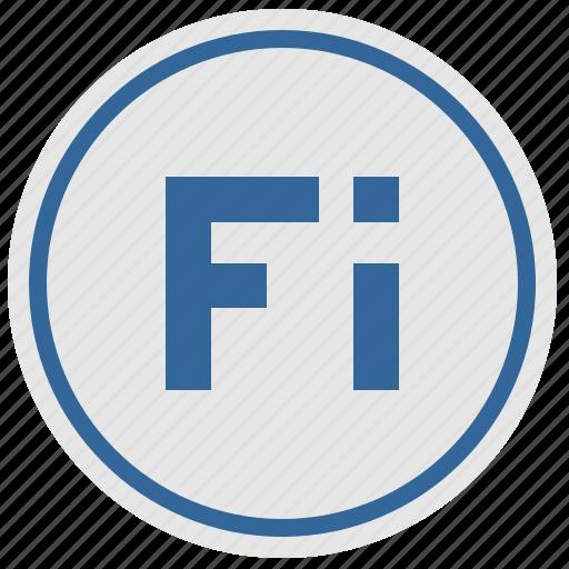 fi, finland, geo, land, material, round, suomi icon