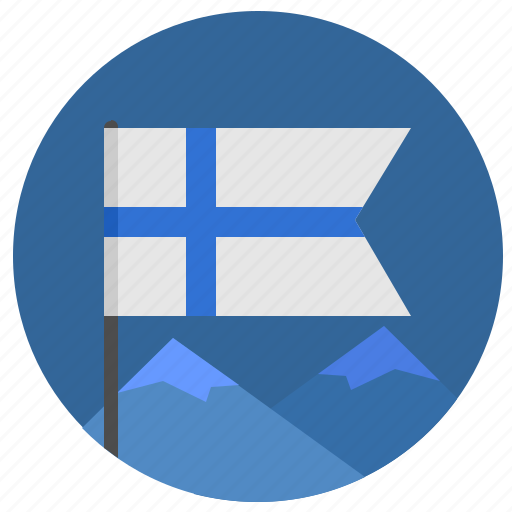 colors, finland, flag, material, mountains, nature, suomi icon
