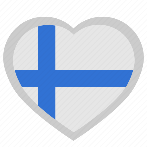 finland, heart, love, material, romantic, suomi icon
