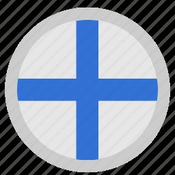 finland, language, material, round, suomi icon