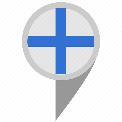 finland, geo, material, place, pointer, suomi icon