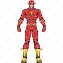 barry allen, flash, hero, speed, super hero, super human, superhuman icon