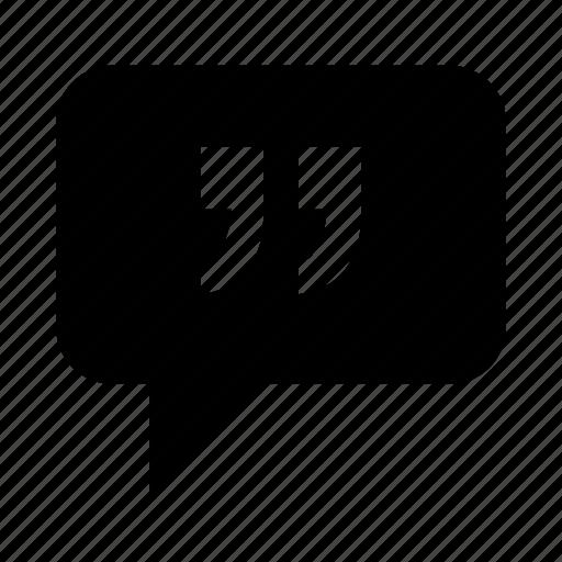 chat, message, quota, speak, talk icon