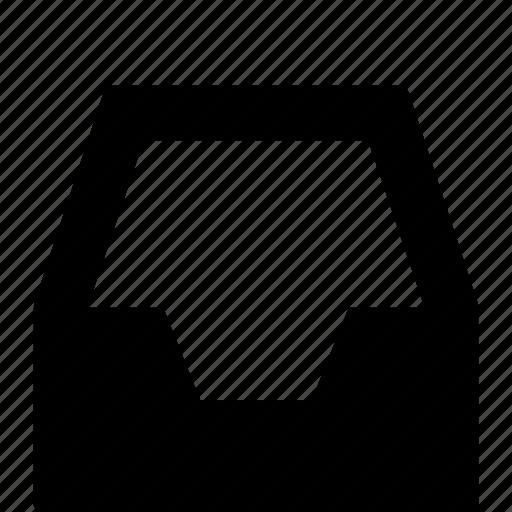 empty, inbox, storage icon