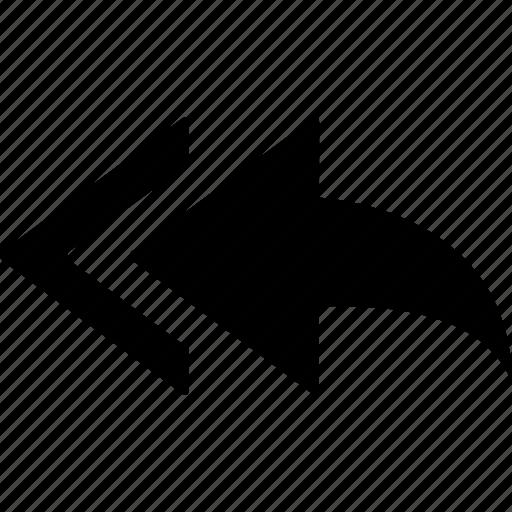arrow, communication, forward, message icon