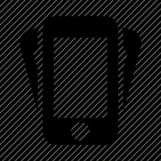 phone, vibration icon