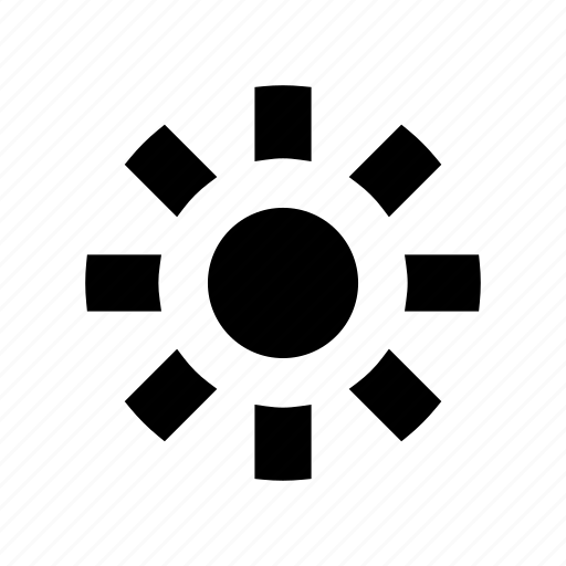 dim, light, lightbulb, power icon