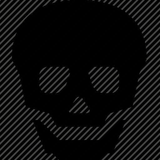 alert, attention, danger, error, skull, warning icon
